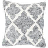 Gray Quatrefoil Pillow Cover